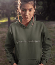 Load image into Gallery viewer, 'May Our Hearts Overcome Our Appetite' - Organic & Recycled Hoodie