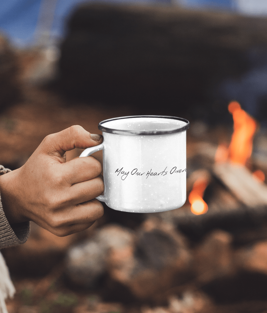 'May Our Hearts Overcome Our Appetite' - Enamel Mug