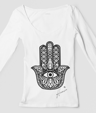 Load image into Gallery viewer, Hamsa - 100% Organic Cotton Classic Long Sleeve Tee