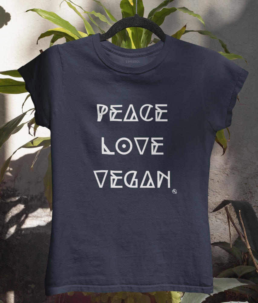 Peace Love Vegan - 100% Organic Cotton Classic T-Shirt