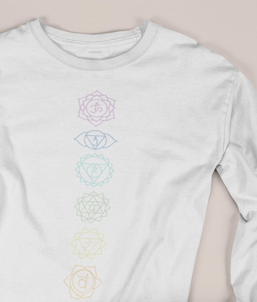 Chakra Energy - 100% Organic Cotton Classic Long Sleeve Tee