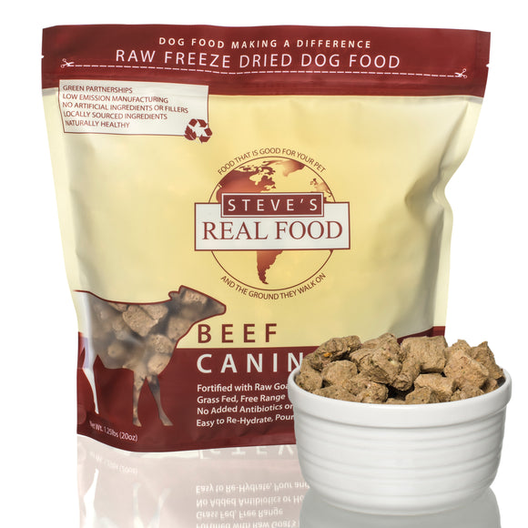 美國 Steve's Real Food Freeze Dried Nuggets 1.25lb (20oz) Beef Diet (For Dogs) - Ingredients