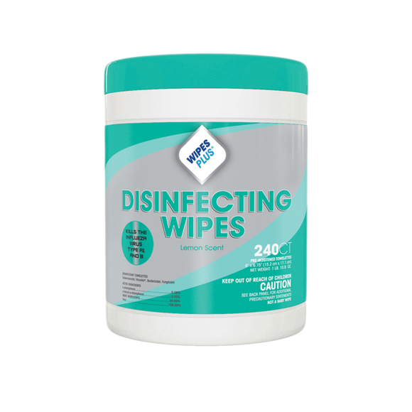 WipesPlus Lemon Scent Alcohol Free Disinfecting Wipes (240 Counts)