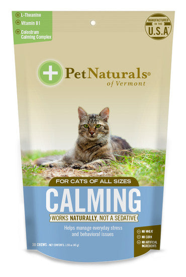 Pet Naturals of Vermont Cats Calming 安定咀嚼片