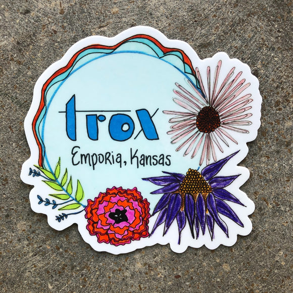 Trox Sticker by Angie Baker