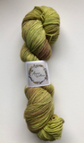 Hand Dyed Yarn - Raspberry Leaf