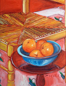 Blue Bowl with Oranges