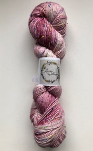Hand Dyed Yarn - Pink Sea Glass
