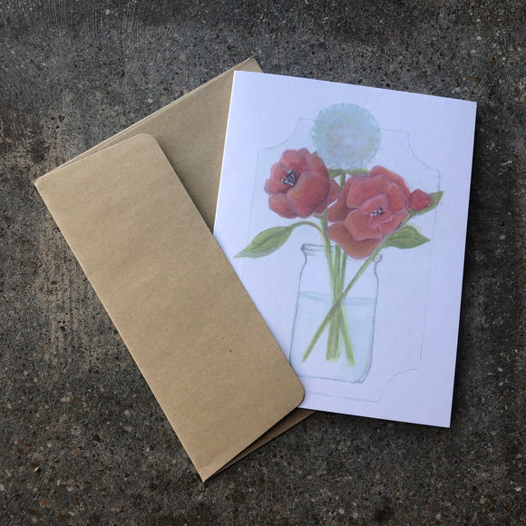 Flowers in Vase Card