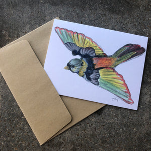 Rainbow Bird Card