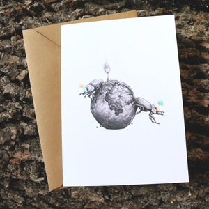 Dung Beetle Birthday Card