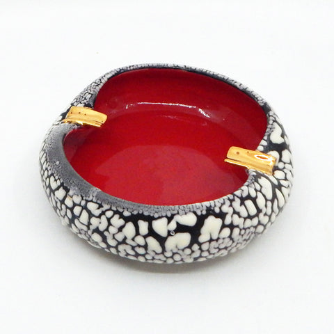 Double Ashtray in Red - 41
