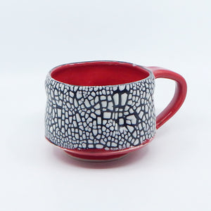 Soft Beady Mug  in Red - 6