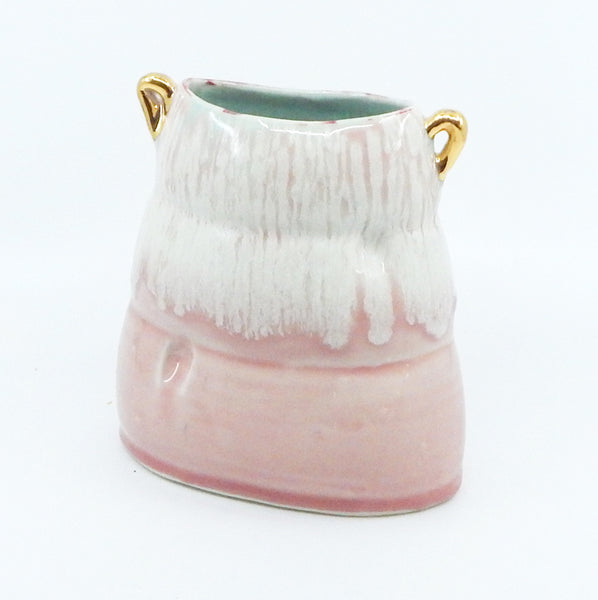 Soft Vase in Pink with Seafoam Interior - 28