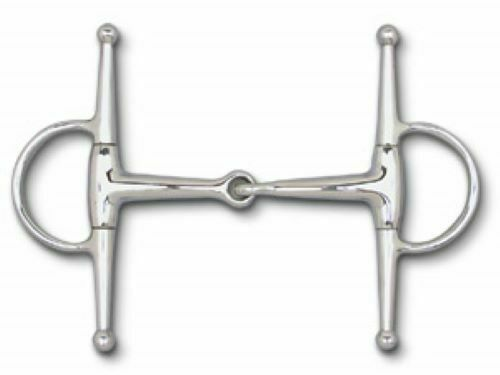 "5 1/4"" Mouth Stainless Steel Full Cheek Snaffle Bit.    Solid mouth, 6 1/2"" cheeks."