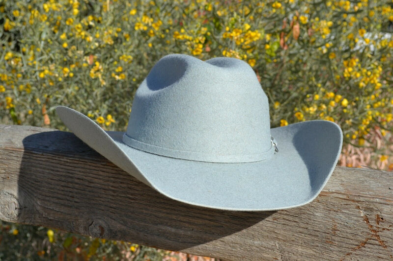 Alamo Hat Co 3X Elburn Kids/Youth Felt Cowboy Hat (6 1/8 - 6 7/8) Silverbelly