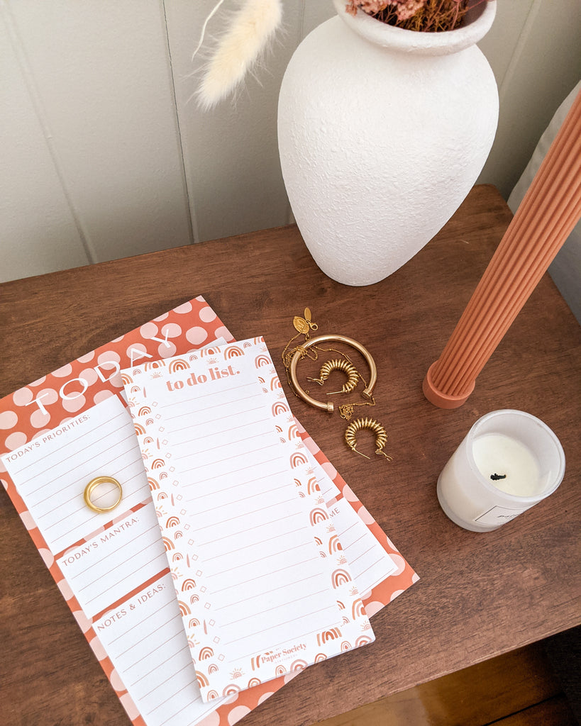 DAILY PLANNER & TO DO LIST SET - Paper Society Stationery
