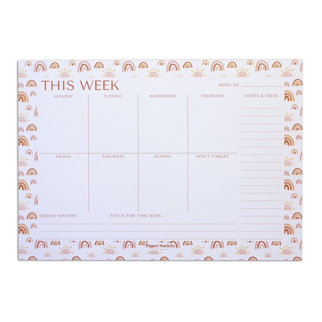 A4 WEEKLY PLANNER - Paper Society Stationery