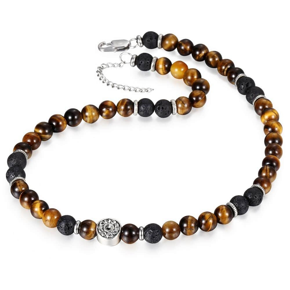Collier Tigre <br> Lave de Protection (Perles)