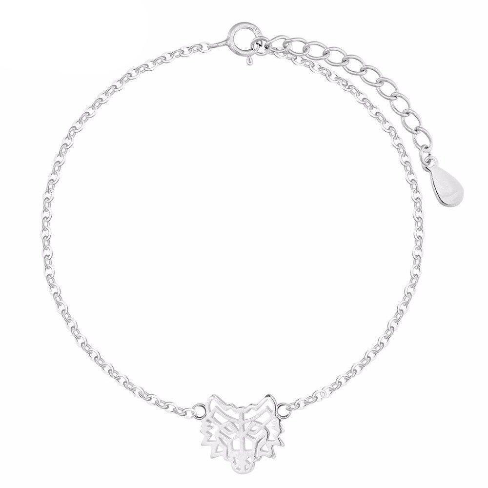 Bracelet Loup  Intention Divine (Argent)