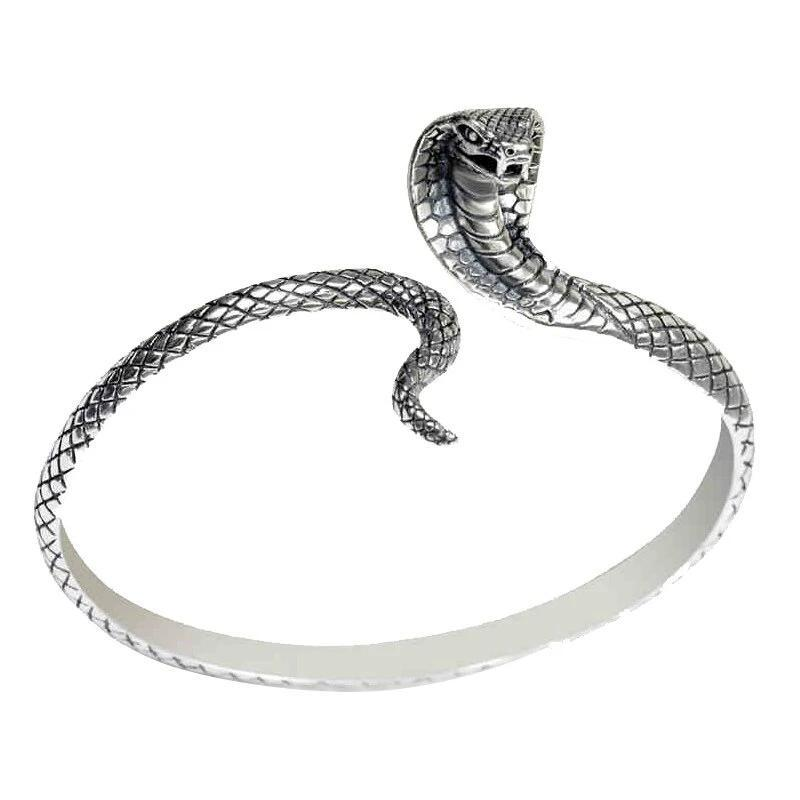 Bracelet Serpent  Cobra Royal (Argent)