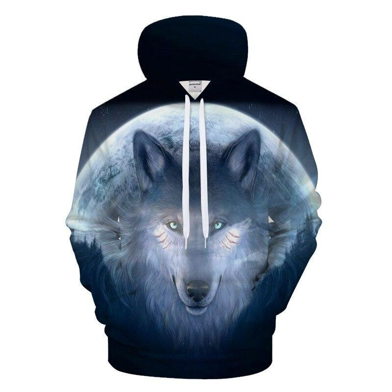 Sweat Loup  Lune Bleu