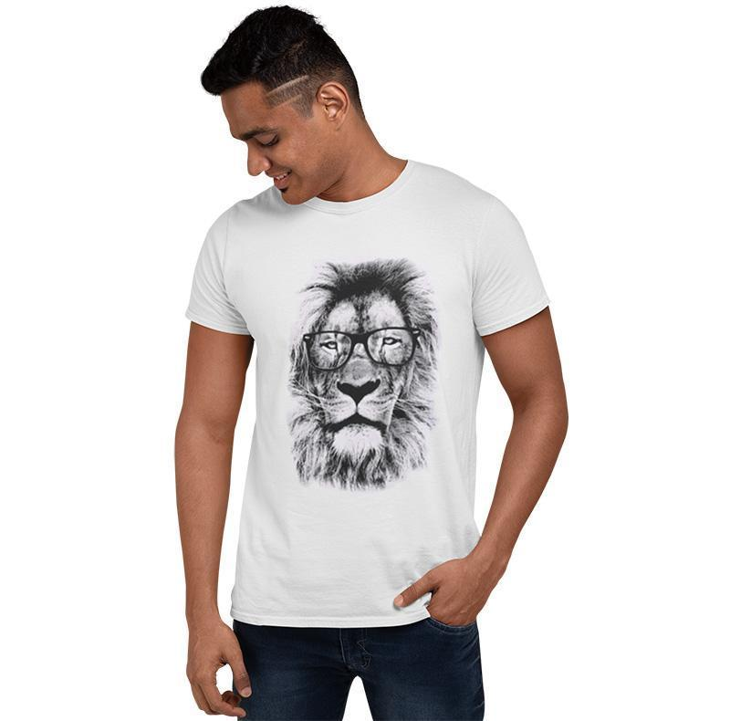 T-Shirt Lion  Hipster Sauvage