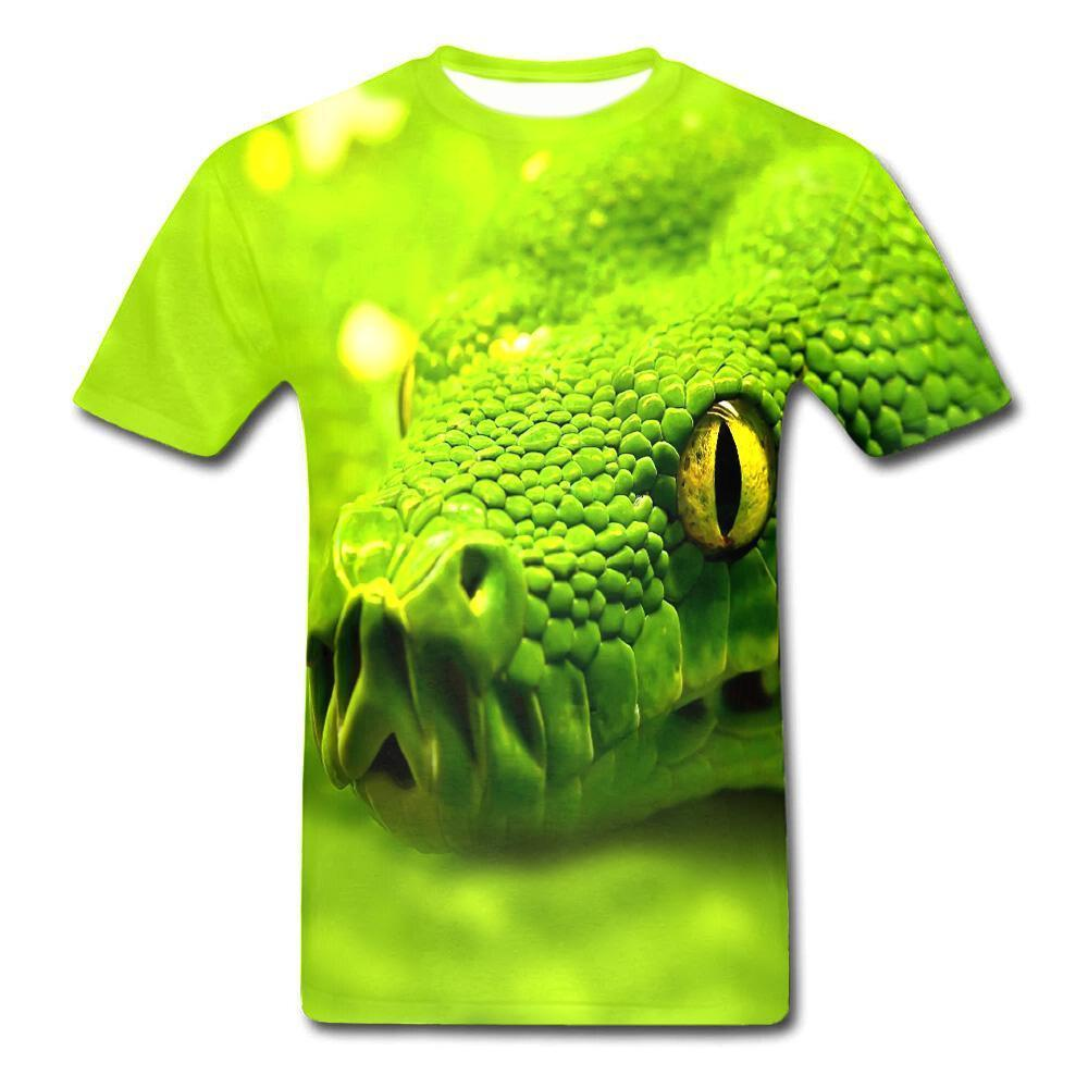T-Shirt Serpent  Tête Animal 3D