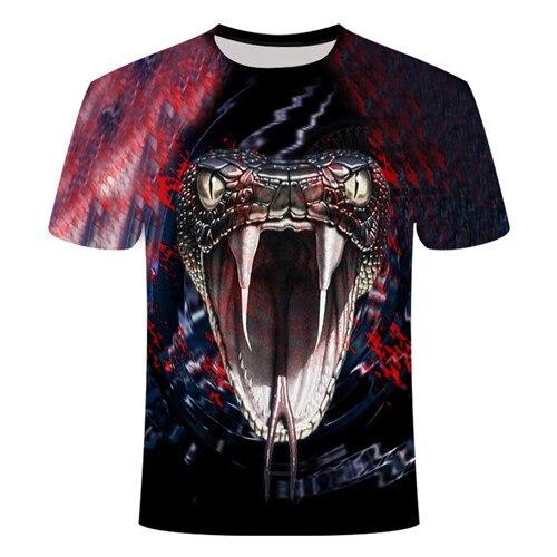 T-Shirt Serpent  Vipère Rouge