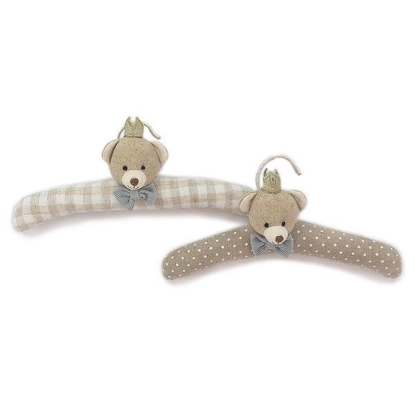 BEAR PRINCE PADDED BABY HANGERS SET OF 2