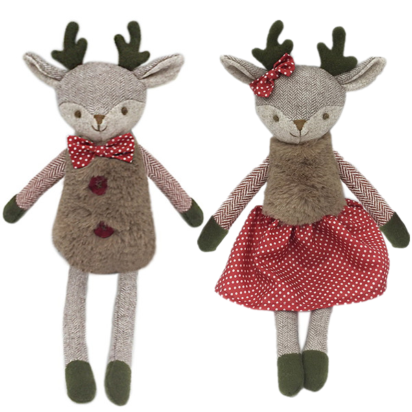 Mr & Mrs. Merry Reindeer Doll Set