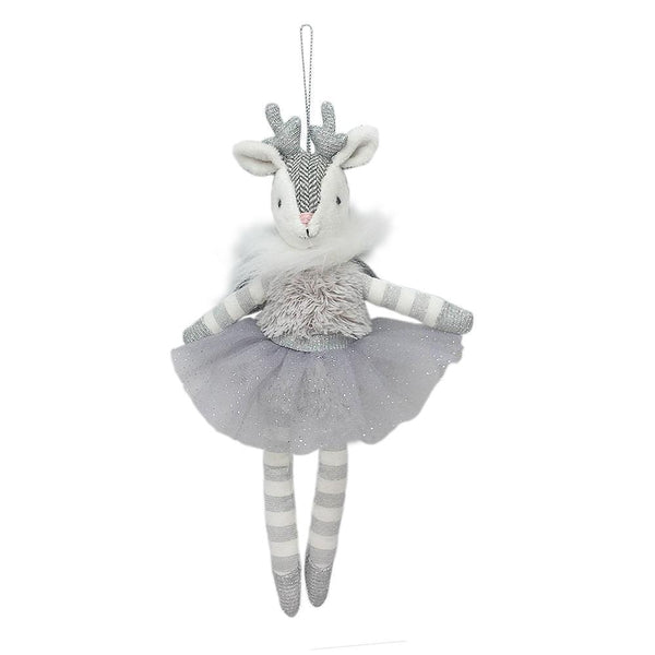 Reindeer Angel Plush Doll Ornament