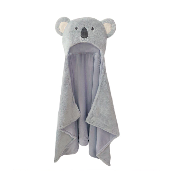 'SYDNEY' PLUSH KOALA HOODED BLANKET