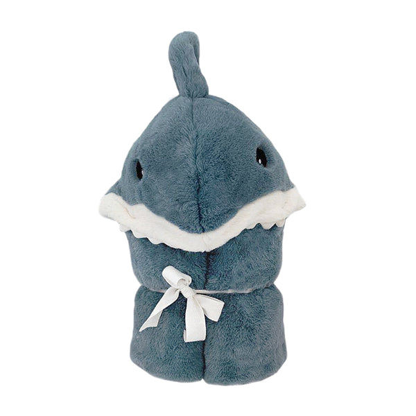 'Seaborn' Plush Shark Hooded Blanket