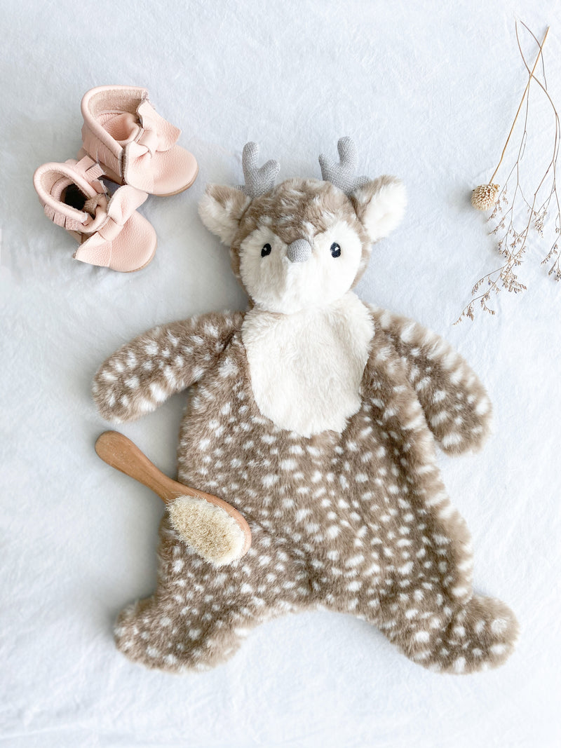 'Fiona' Fawn Plush Baby Security Blanket