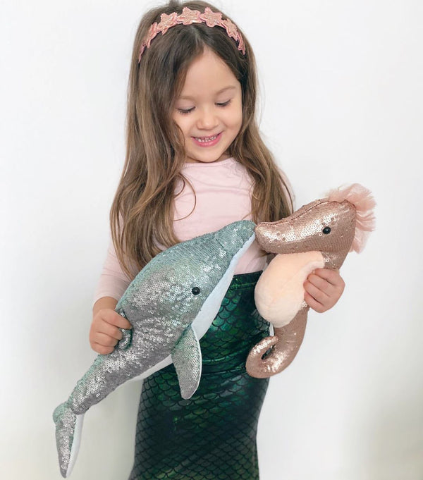 SEQUIN SENSATION DOLPHIN STUFFED ANIMAL