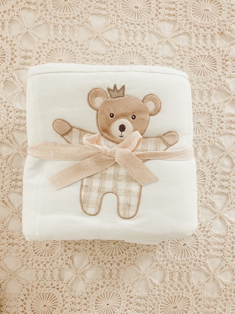 BEDTIME PRINCE BEAR COTTON QUILT