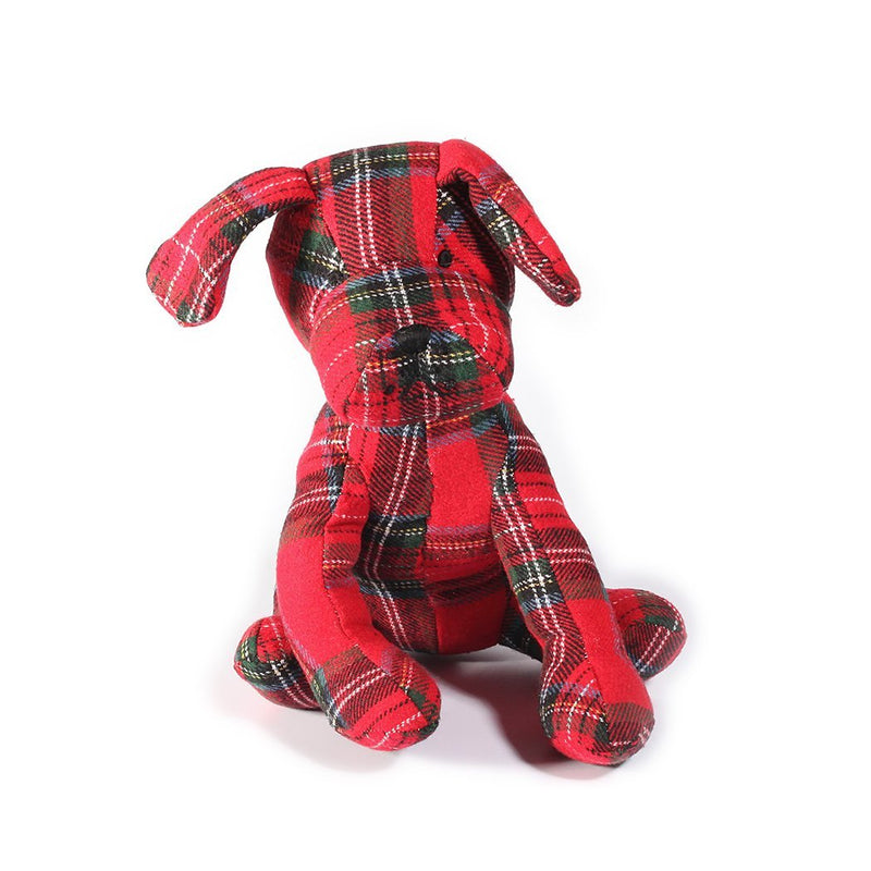 Mon Ami Tartan Plaid Weighted Dog Door Stop, 16 in