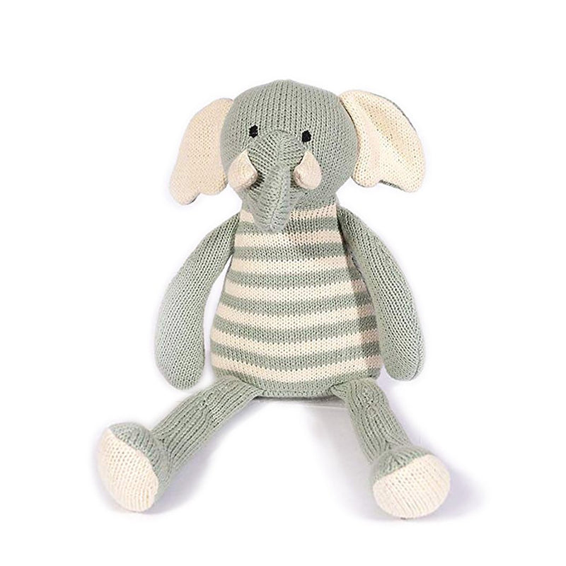 Elephant Striped Cotton Knit Plush Toy