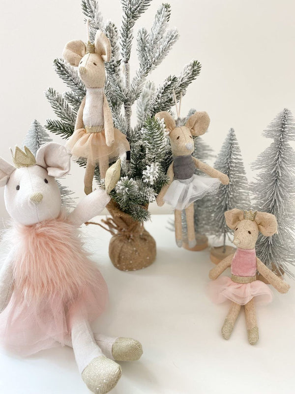 Ballerina Mice Holiday Ornament Set