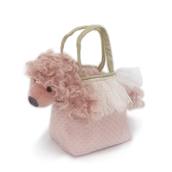 'PARIS' PINK POODLE PLUSH TOY IN PURSE