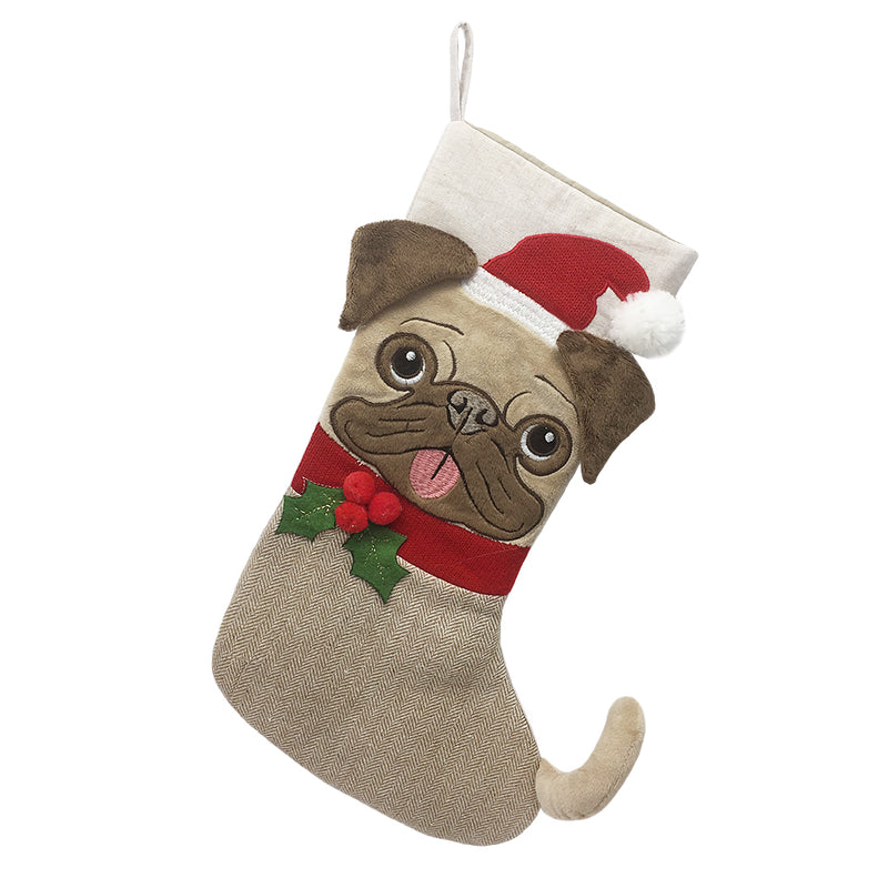 Merry Pug-Mas Christmas Stocking