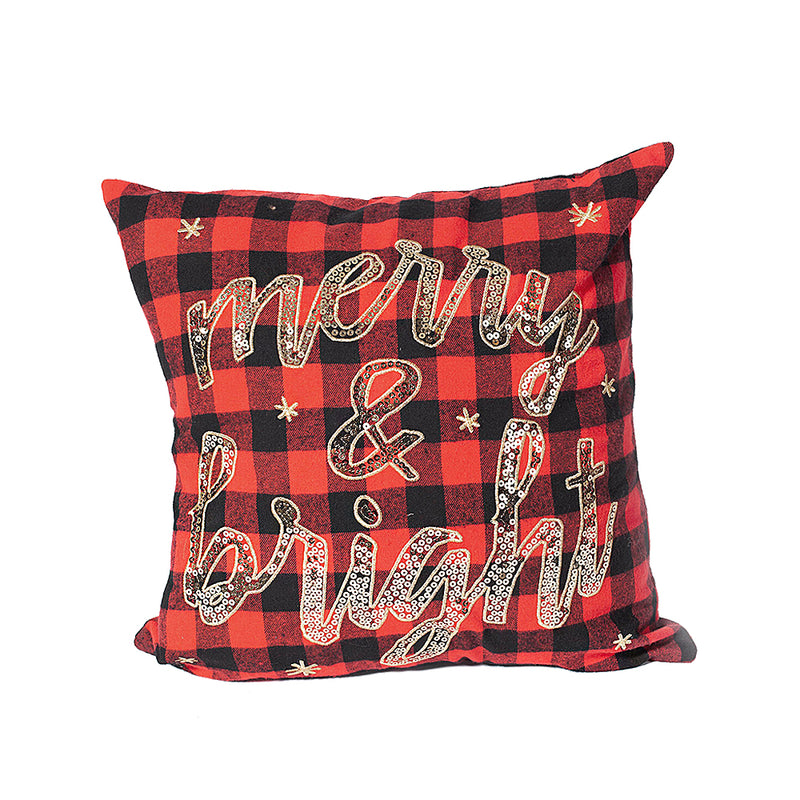 Merry & Bright Buffalo Plaid Pillow Cover