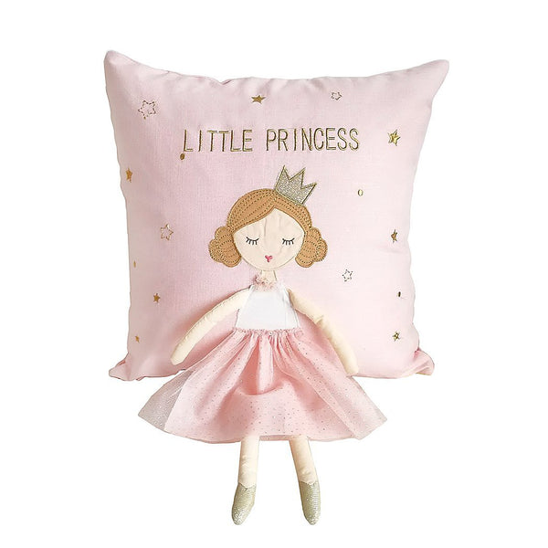 WHIMSICAL PRINCESS DECORATIVE PILLOW 16 IN X 16 IN