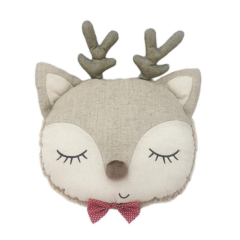 Mon Ami Merry Reindeer Accent Pillow, 13 in