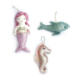 Sequin Sea Life Ornament Set - 3 Assorted Designs