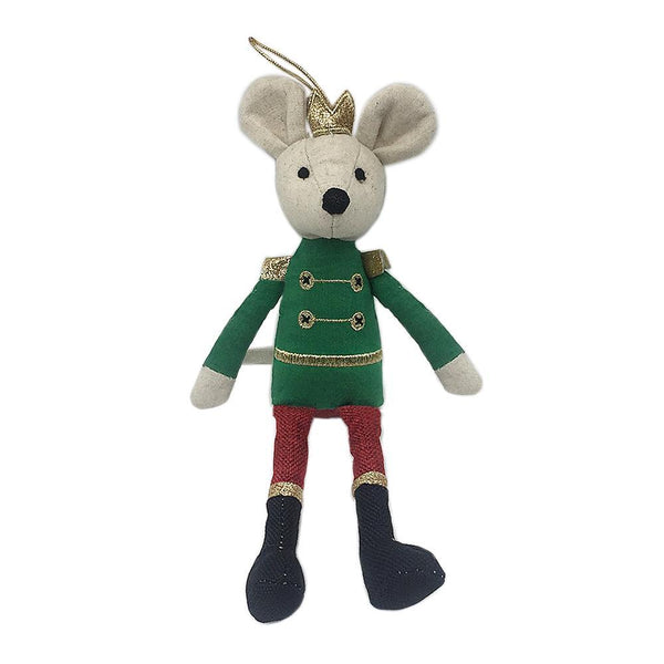 King Mouse Nutcracker Themed Doll Ornament