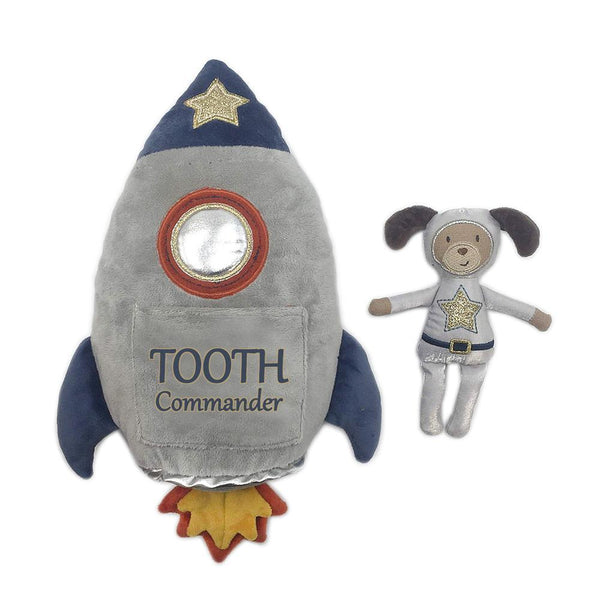SPACESHIP 'TOOTH COMMANDER' PILLOW AND DOLL SET