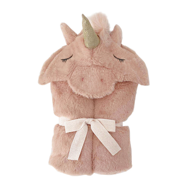 'Uliana' Plush Unicorn Hooded Blanket