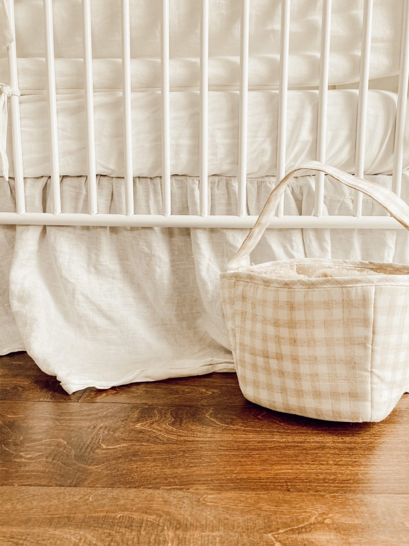 Tan Fabric Basket / Storage Caddy